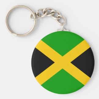 Jamaica High quality Flag Basic Round Button Key Ring