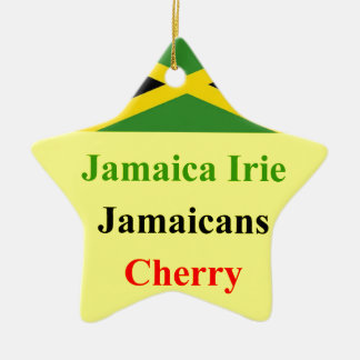 Jamaica irie christmas ornament