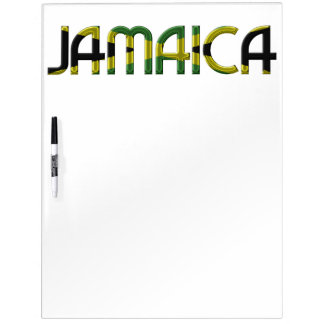 Jamaica Jamaican Flag Colors Typography Dry Erase Board