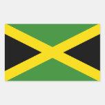 Jamaica/Jamaican Flag Rectangular Sticker