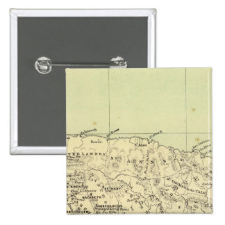 Jamaica Lithographed Map 15 Cm Square Badge