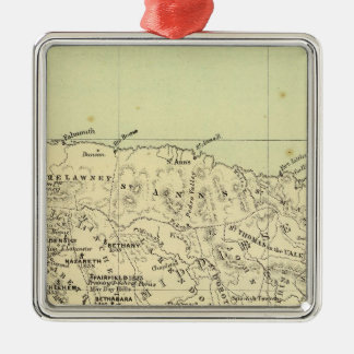 Jamaica Lithographed Map Christmas Ornament