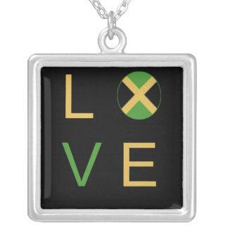 Jamaica LOVE Square Necklace