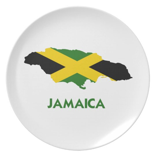 JAMAICA MAP PLATE