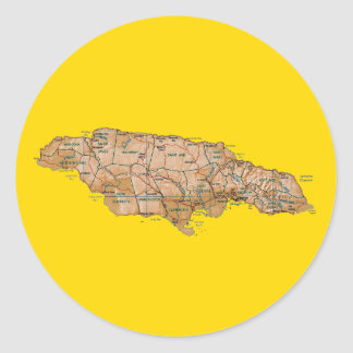 Jamaica Map Sticker