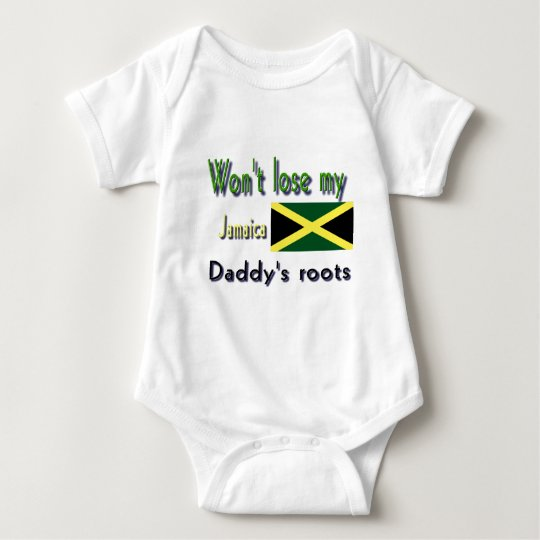 Jamaica my daddy's roots baby bodysuit