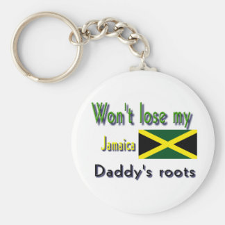 Jamaica my daddy's roots basic round button key ring