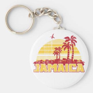 Jamaica Paradise Basic Round Button Key Ring