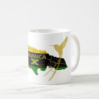 Jamaica Parishes Colors Gold Humming Bird Mug