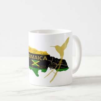 Jamaica Parishes Colours Gold Humming Bird Mug