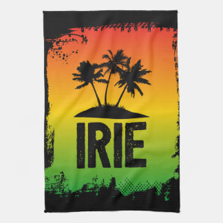 Jamaica Patwah Saying Irie Chill Out Relax Tea Towel