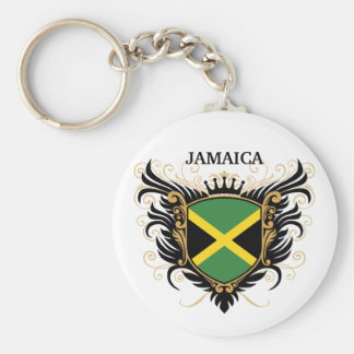 Jamaica [personalize] basic round button key ring