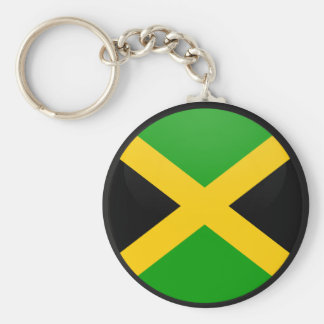 Jamaica quality Flag Circle Basic Round Button Key Ring