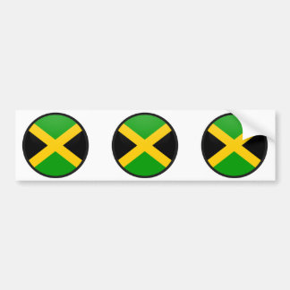 Jamaica quality Flag Circle Bumper Sticker
