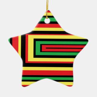 JAMAICA rasta roots colors Ceramic Star Decoration