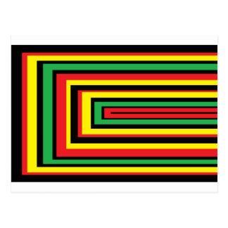 JAMAICA rasta roots colours Postcard