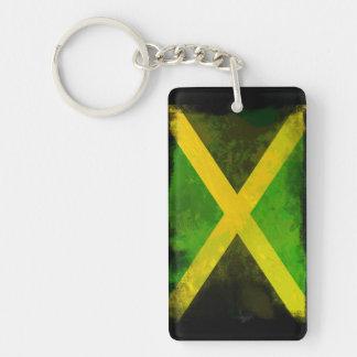 Jamaica Roots Double-Sided Rectangular Acrylic Key Ring