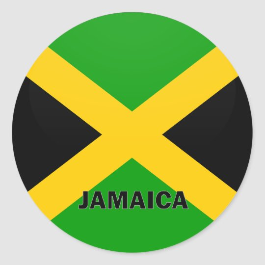 Jamaica Roundel quality Flag Classic Round Sticker
