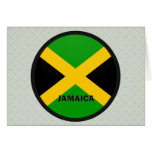 Jamaica Roundel quality Flag Greeting Card