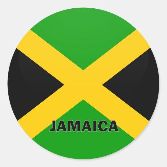 Jamaica Roundel quality Flag Round Sticker