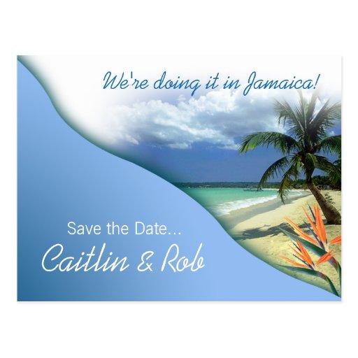 Jamaica Save The Date (caribbean sky) Postcards