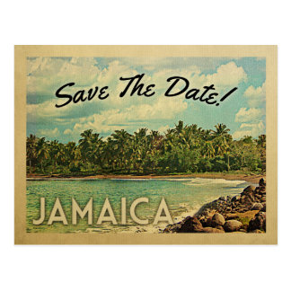 Jamaica Save The Date Vintage Postcards