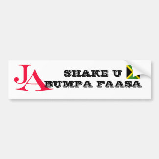 """Jamaica """"Shake U Bumpa"""" Bumper Sticker Car Bumper Sticker"""