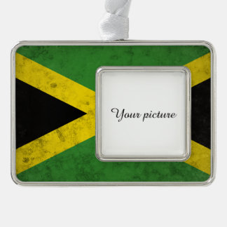 Jamaica Silver Plated Framed Ornament