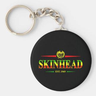 Jamaica Skinhead 1969 Basic Round Button Key Ring