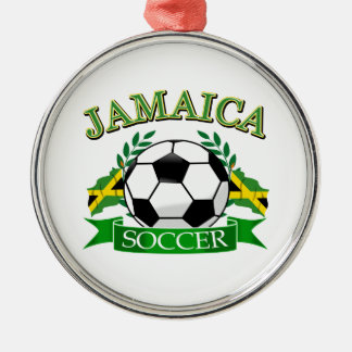 Jamaica soccer ball designs christmas ornament