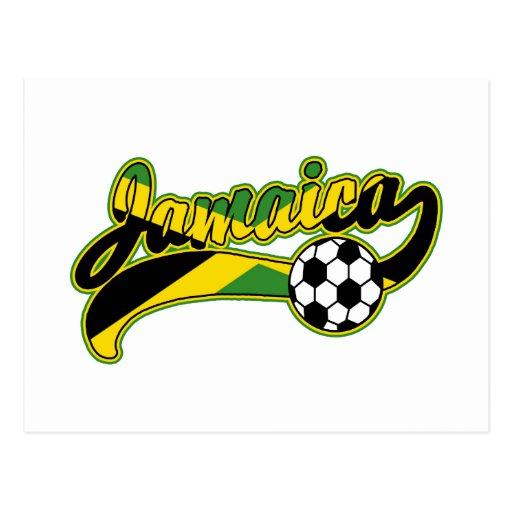 Jamaica Soccer Postcard