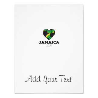 Jamaica Soccer Shirt 2016 11 Cm X 14 Cm Invitation Card