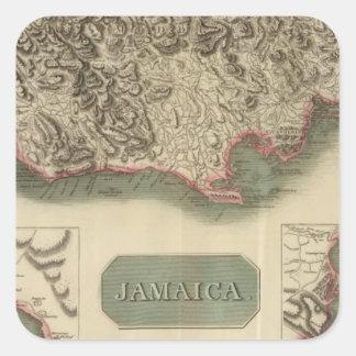 Jamaica Square Sticker