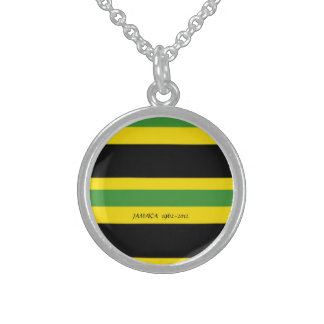 Jamaica Sterling Silver Round Necklace