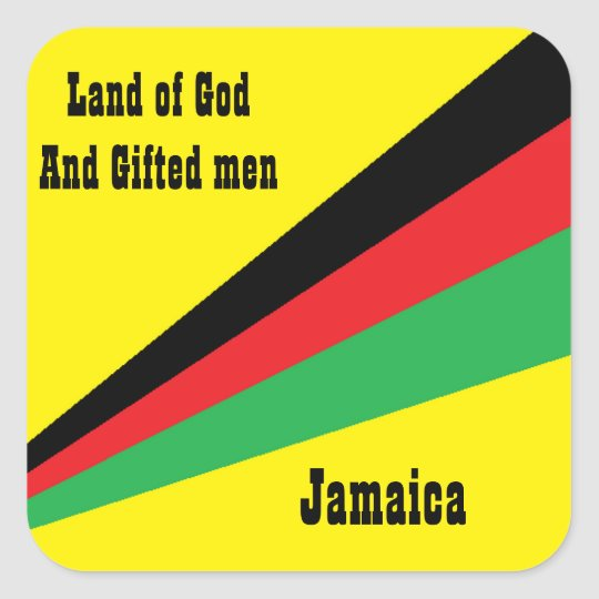 jamaica sticker-land of god and gifted men square