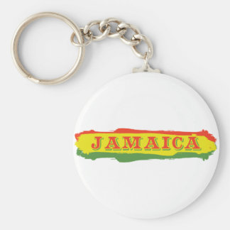 Jamaica Stripes Basic Round Button Key Ring