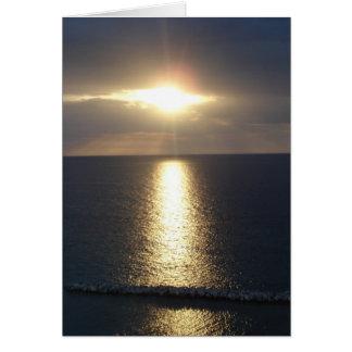 Jamaica Sunset Card