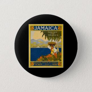 Jamaica the gem of the tropics 6 cm round badge
