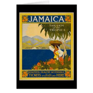 Jamaica the gem of the tropics card