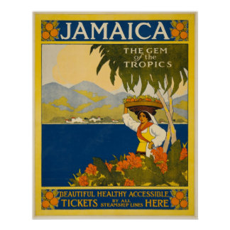 Jamaica the gem of the tropics posters