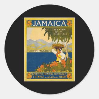 Jamaica the gem of the tropics round sticker