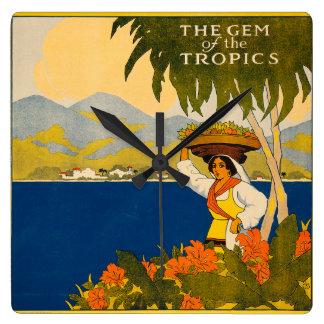 Jamaica, the gem of the tropics wallclock
