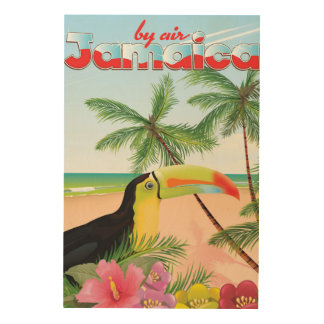 Jamaica toucan beach poster