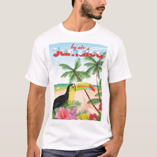 Jamaica toucan beach poster T-Shirt