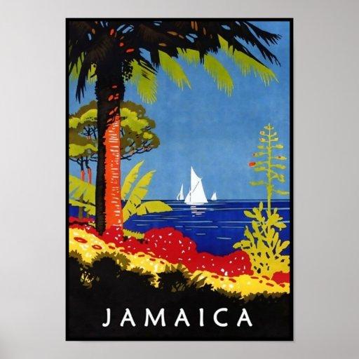 Jamaica Vintage Retro Art Deco Travel Poster