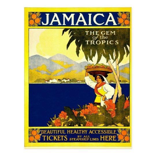 Jamaica vintage style postcard