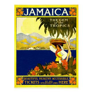 Jamaica, Vintage Travel Poster Postcard