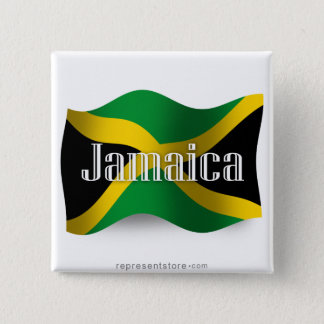 Jamaica Waving Flag 15 Cm Square Badge