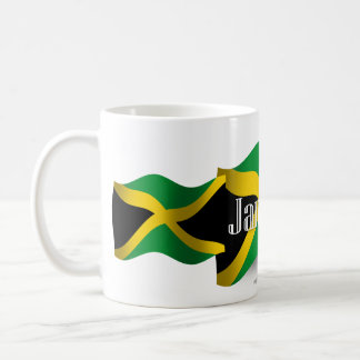 Jamaica Waving Flag Basic White Mug
