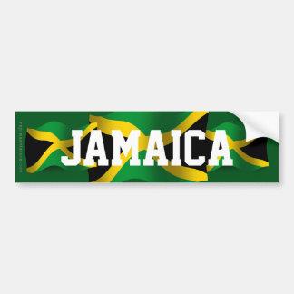 Jamaica Waving Flag Bumper Sticker